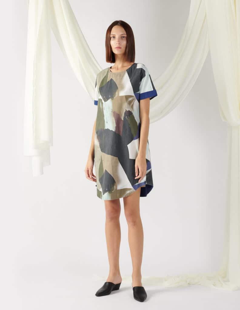 printed voluminous dress